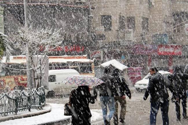 منخفض قطبي يؤثر على سورية السبت المقبل وثلوج متوقعة على ارتفاعات منخفضة