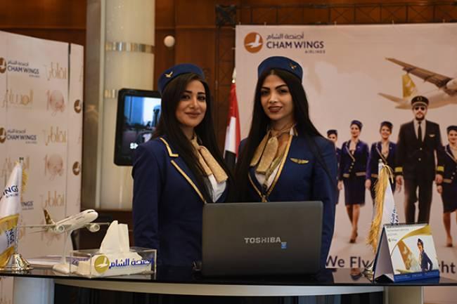 أجنحة الشام للطيران تنقل مئات رجال الأعمال لمعرض صنع في سورية للألبسة