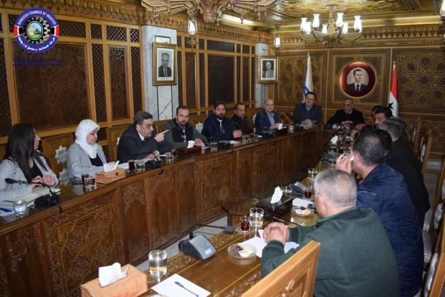 صناعيو الحلاوة بغرفة صناعة دمشق ينتخبون الحلواني رئيساً للجنتهم ويناقشون الأسعار وغش المنتج من بعض الورش
