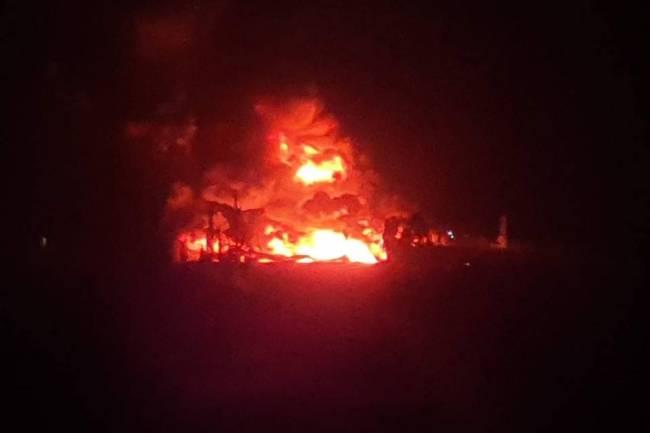 حريق ضخم في منشأة الحافظ لصناعة الدهانات بمنطقة الكسوة في ريف دمشق