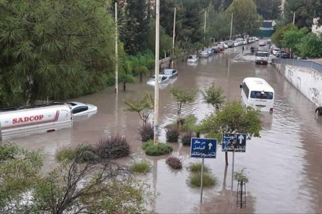 تحذير من فيضان عدد من شوارع دمشق ابتداء من مساء الخميس مع بدء تأثير منخفض عالي الفعالية