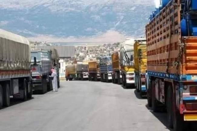اكثر من 5 آلاف شاحنة تحمل 168 ألف طن من البضائع السورية دخلت العراق هذا العام