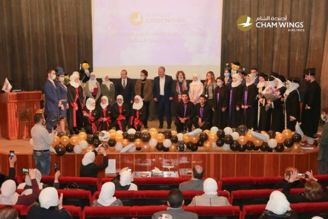 أجنحة الشام تكرم طلاب كفالة العلم المتفوقين