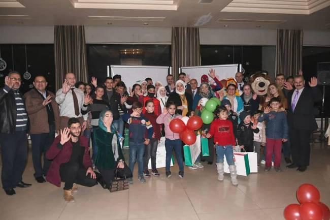 """تحت شعار """"أطفالنا أبطال""""  وبمناسبة اليوم العالمي لسرطان الأطفال.  بنك سورية الدولي الإسلامي يقيم يوماً ترفيهياً لأطفال مرضى السرطان."""
