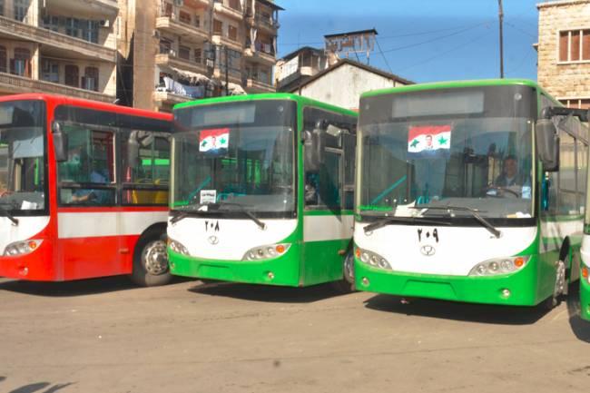 محافظة دمشق : 65 باص نقل داخلي للشركات الخاصة ستعود للعمل قريباً