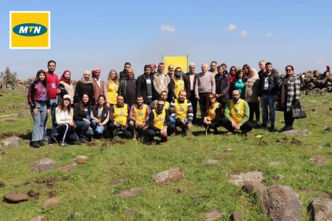 """شركة MTN سوريا ترعى ختام موسم التشجير ضمن حملة """"الأيادي الخضراء"""" لإعادة الحياة للغابات السورية"""