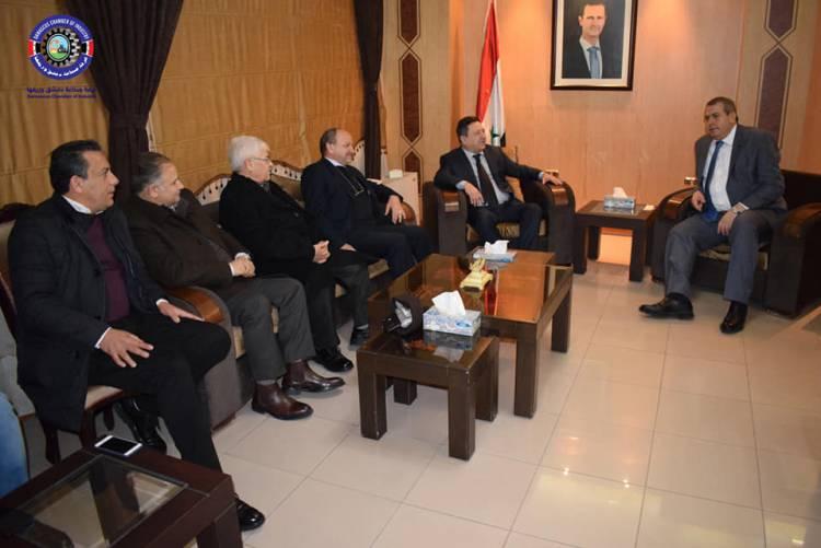 الدبس يطرح هموم الصناعيين على طاولة وزير التجارة الداخلية