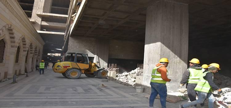 بدء أعمال إكساء مشروع يلبغا .. القطان : العمل على تنفيذ الفندق والمطاعم خلال أسرع وقت