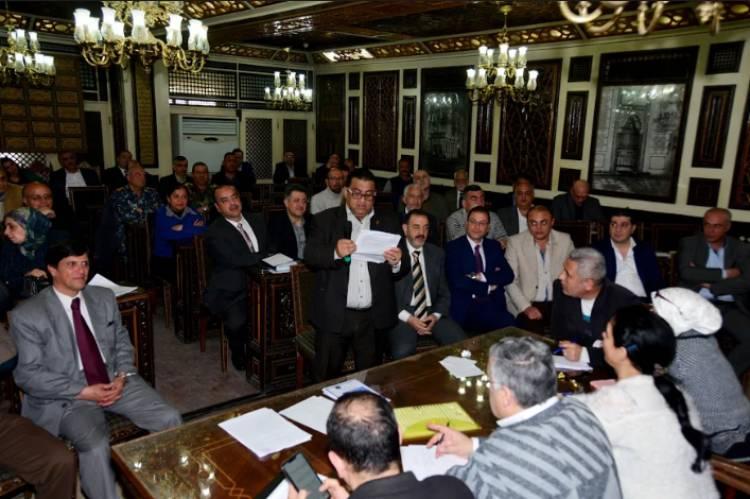 لجنة الاستثمار بمجلس محافظة دمشق تبدأ عملها لتفعيل استثمار املاك المحافظة
