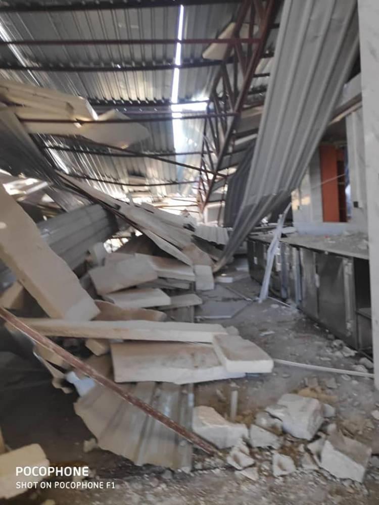 بالصور .. أضرار كبيرة بمنشأة داوود للصناعات الغذائية بصحنايا نتيجة العدوان الإسرائلي الغادر ليلة الإثنين