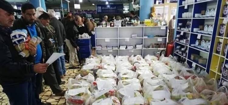 السورية للتجارة تبدأ ببيع السلل الغذائية بعد زيادة محتواها
