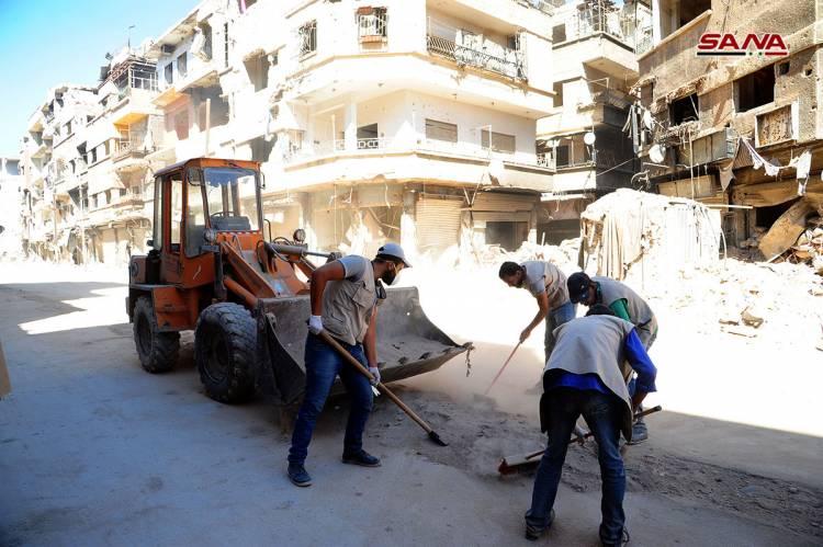 الجزائرلي : عودة 500 أسرة لليرموك .. فتح جميع الشوارع الرئيسية والعمل على استكمال كافة الخدمات