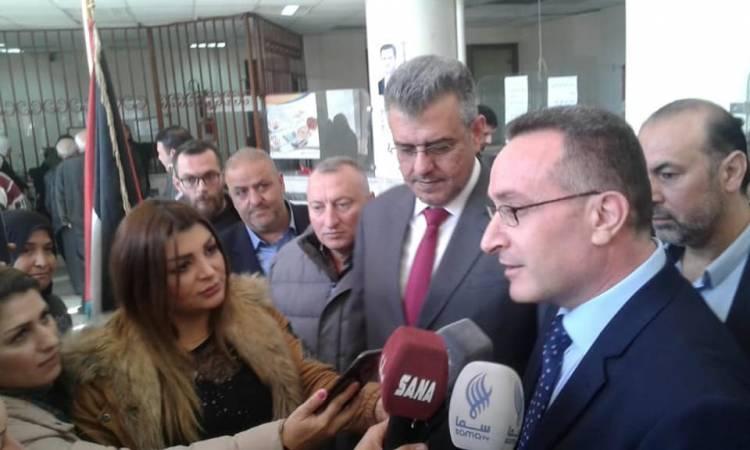 افتتاح مركز للبريد ضمن مركز هاتف التضامن بدمشق